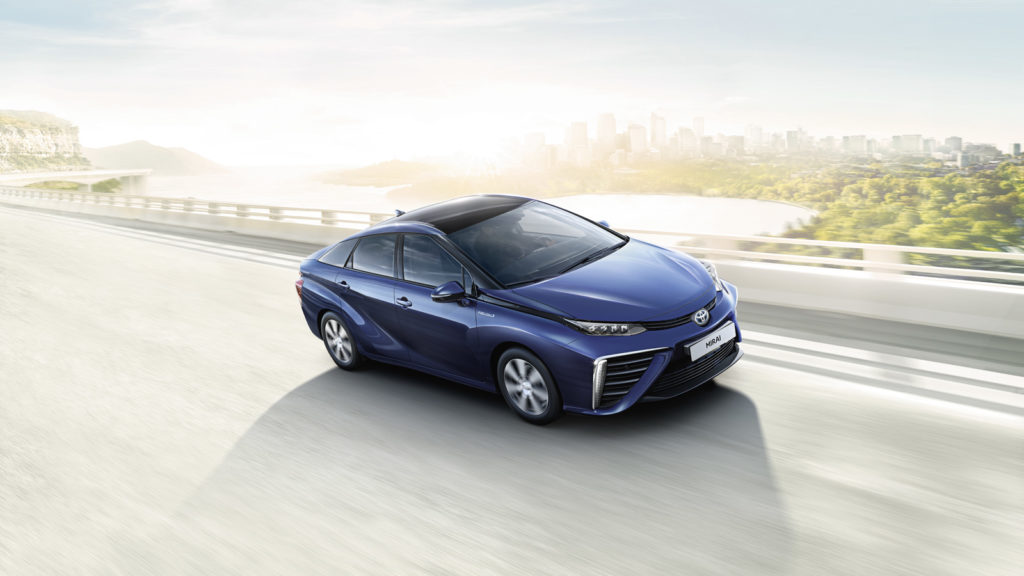 Toyota Mirai Hydrogen fuelled electric vehicle