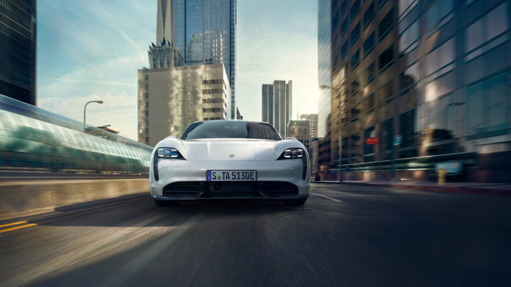The All-Electric Porsche Taycan Car